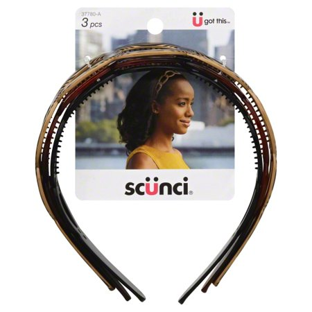 (2 Pack) Scunci Effortless Beauty: Headbands, 3 ct](60s Headband)
