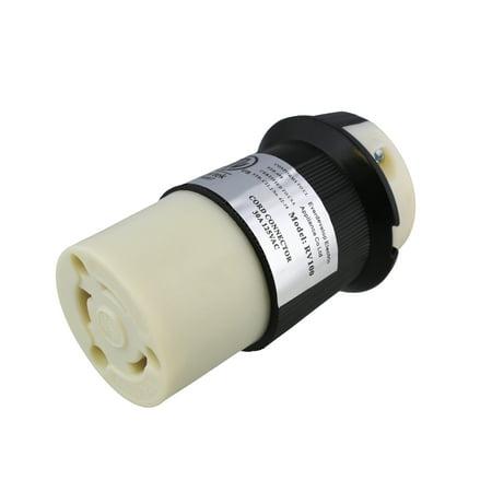 ABN   L5-30R Connector 30A 125V – 30 Amp Locking Power Cord Locking Inlet Plug