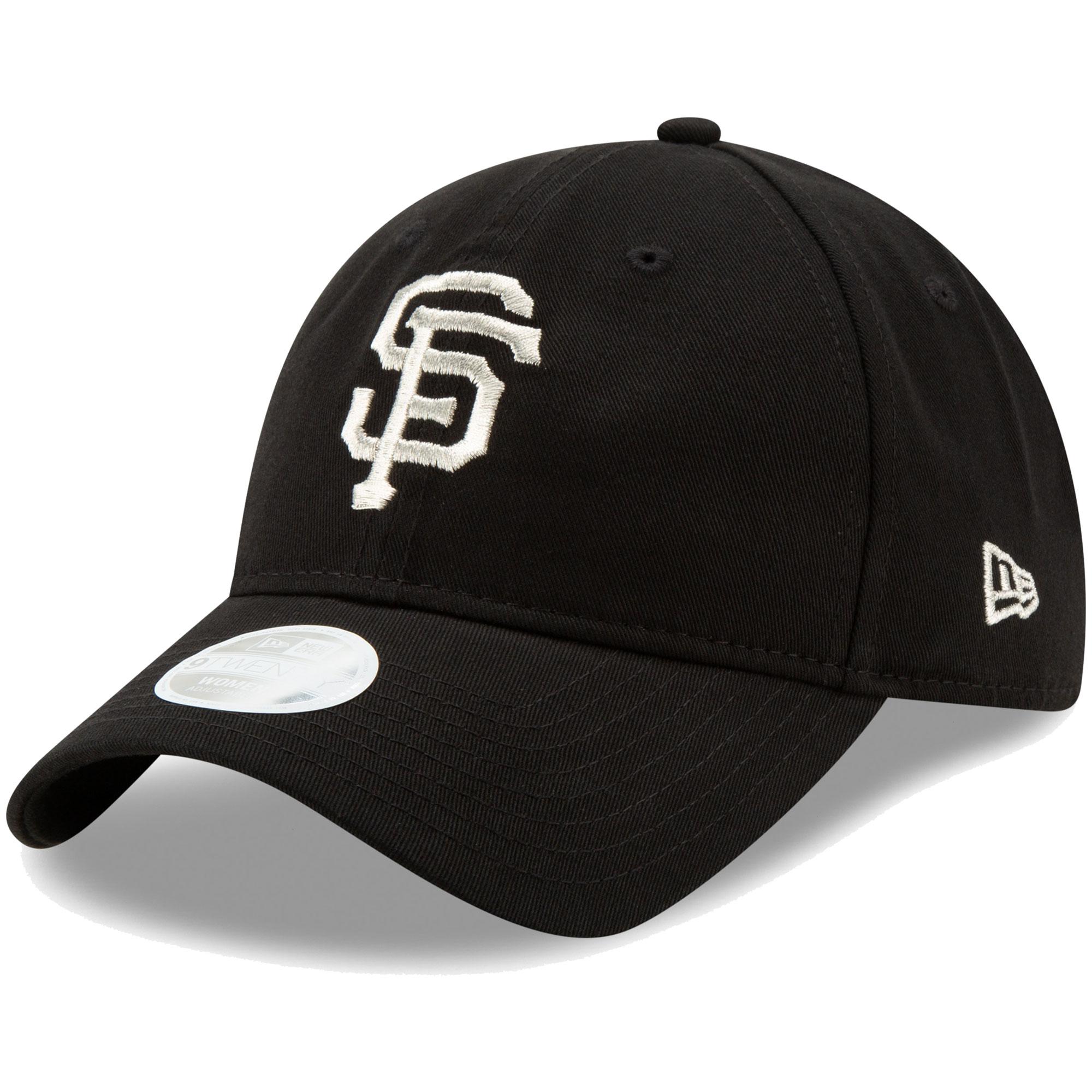 San Francisco Giants New Era Women's Stadium Collection Logo Beam 9TWENTY Adjustable Hat - Black - OSFA