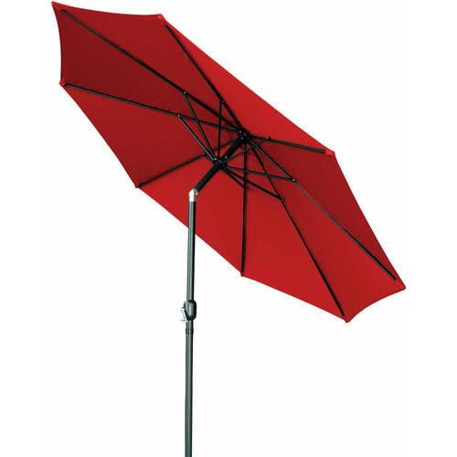 Tilt Crank Patio Umbrella 10' by Trademark Innovations (Teal) by Trademark Innovations