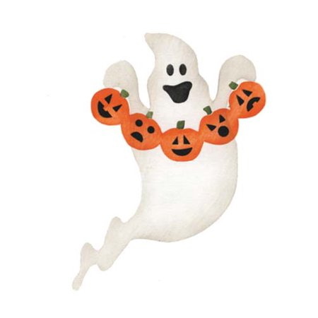 Large Ghost and Pumpkin Craft Stencil SKU #2966B by Designer Stencils - Easy Pumpkin Stencils