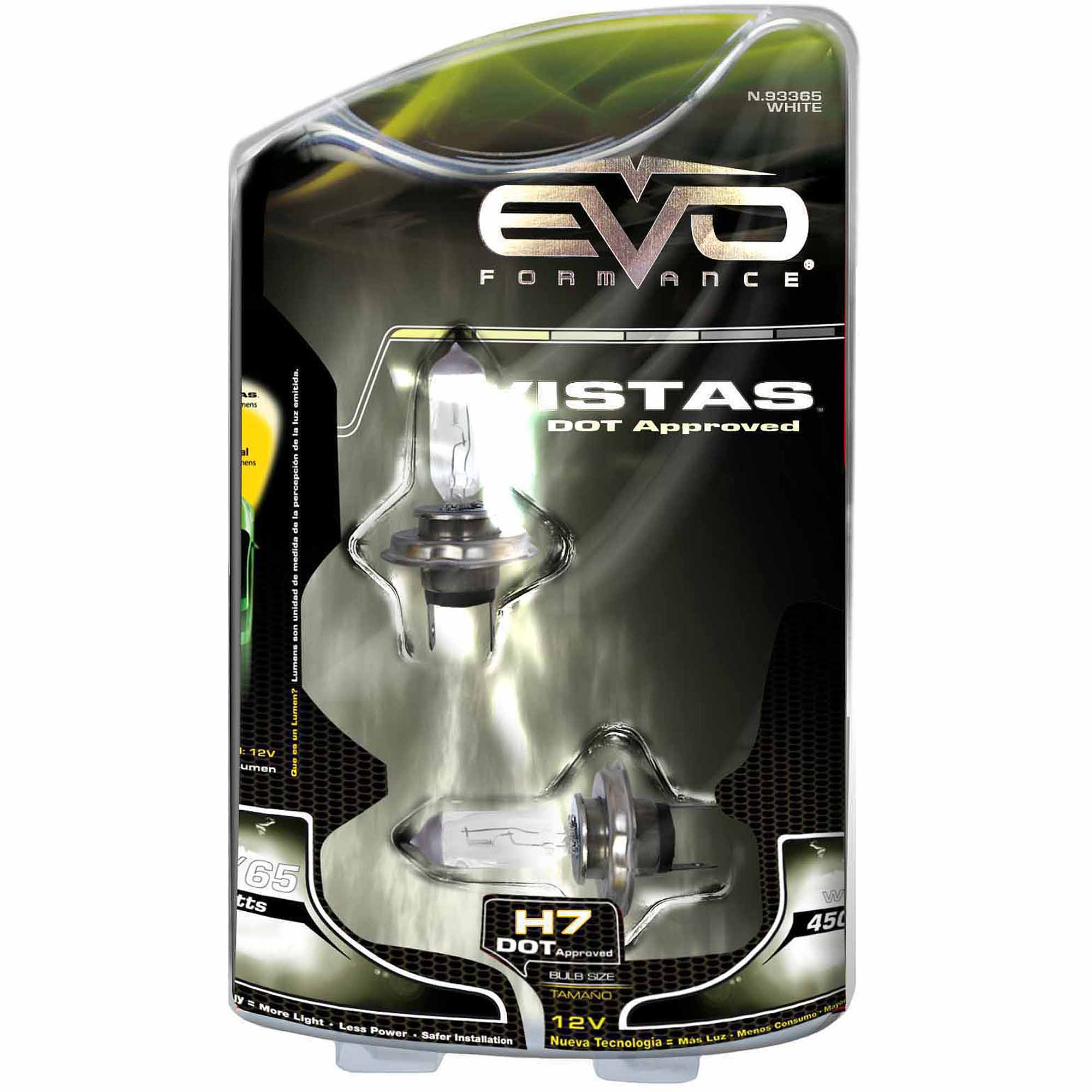 CIPA Vistas DOT Approved H7 Halogen Headlight Bulbs