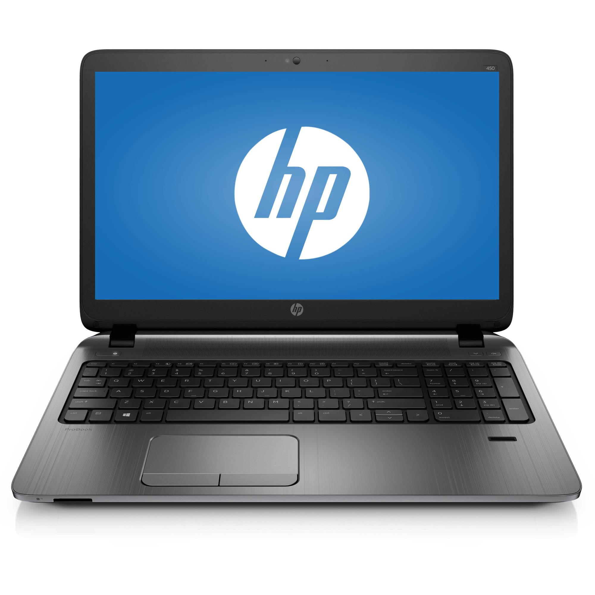 "HP ProBook 450 G2 V1H28UT#ABA 15.6"" Laptop, Windows 7 Professional, Intel Core i3-5005U Dual-Core Processor, 4GB RAM, 500GB Hard Drive"