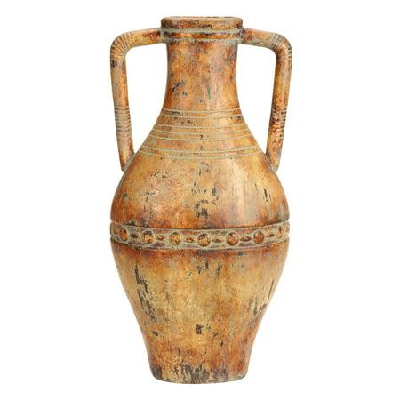 Antique Prairie Flowers Ceramic (Ceramic Tuscan Urn Antique Decor )
