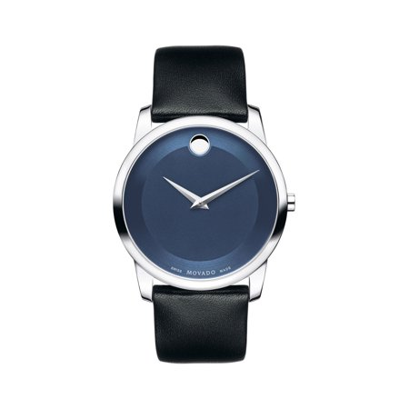 Movado Museum 606610 Blue / Black Leather Analog Quartz Men's Watch