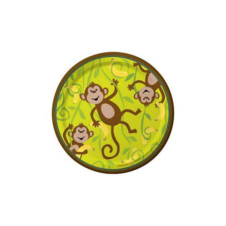 Monkeyin' Around Luncheon Plate by Creative Converting - 415692 - Green Luncheon Plate