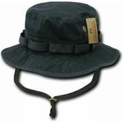 RapDom Vintage Washed Jungle Mens Boonie Hat [Black - S]