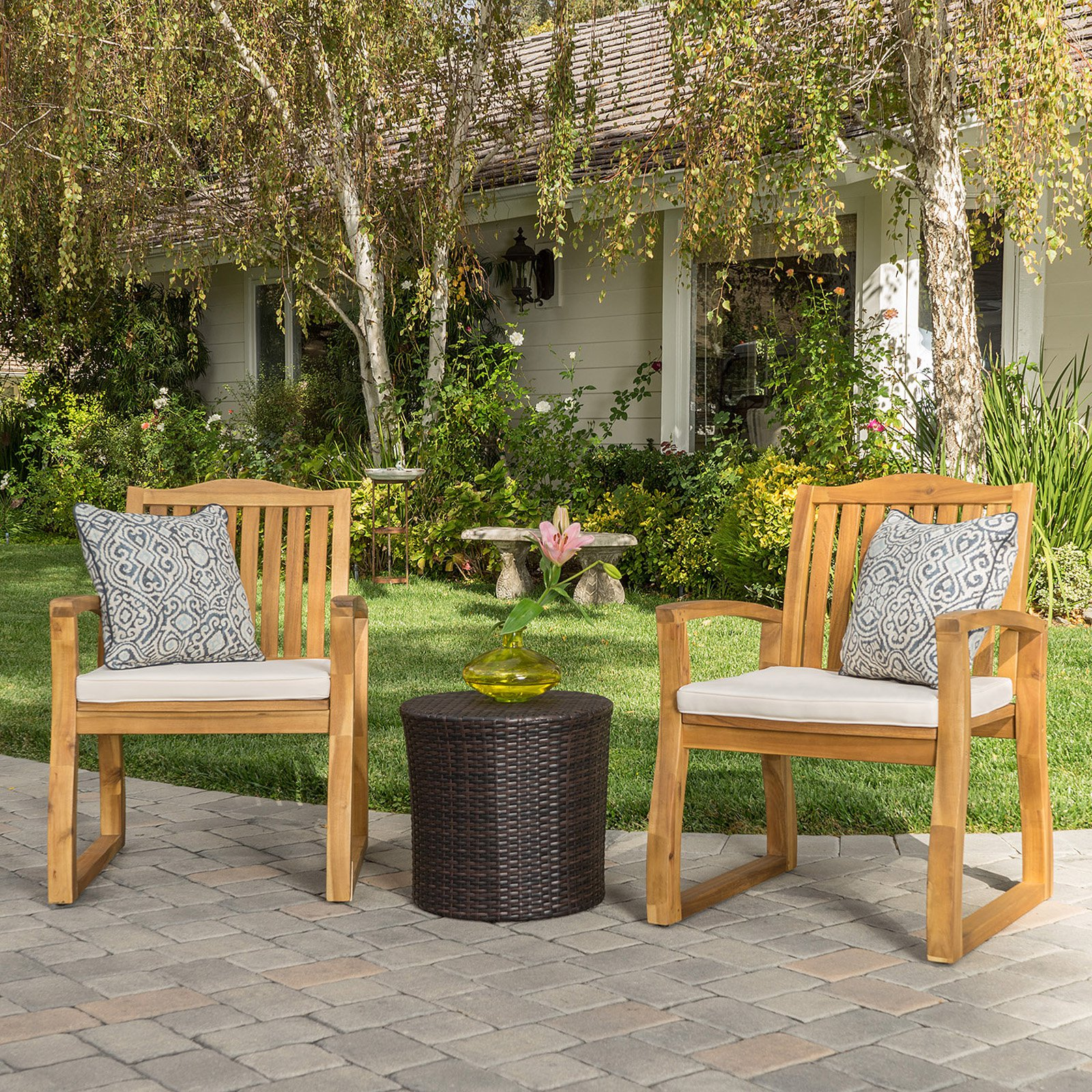 Best Selling Home Sharps 3 Piece Patio Chat Set