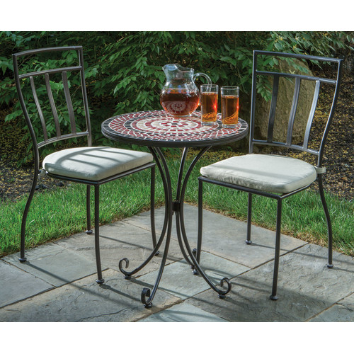 Fleur De Lis Living Boulevard 3 Piece Bistro Set with Cus...
