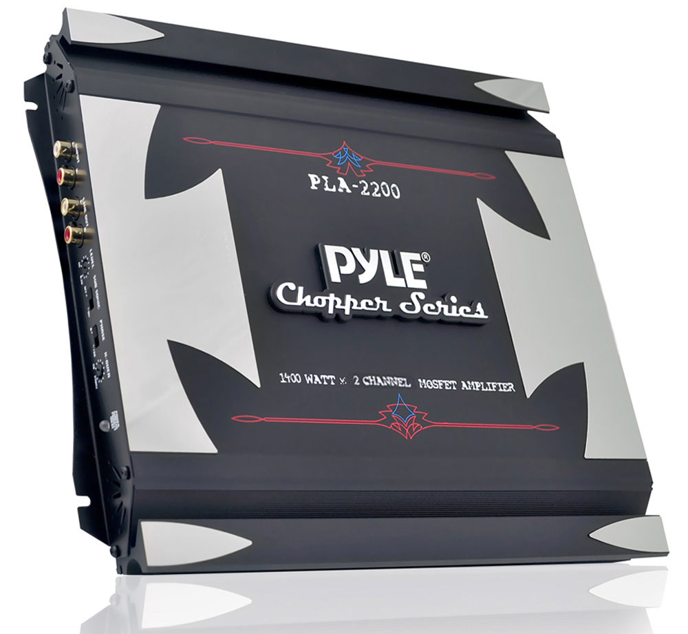 PYLE PLA2200 - 2-Channel 1,400-Watt Bridgeable Mosfet Amplifier