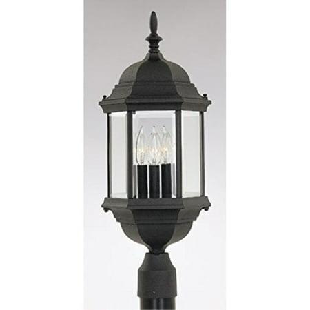 Designers Fountain 2986-BK Devonshire Post Lanterns, -