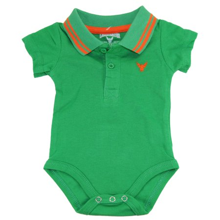 3da1d909f Company 81 - Company 81 Baby Boys Infant Green Solid Polo Bodysuit ...