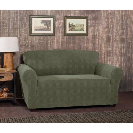 Excellent Stretch Plaid Loveseat Slipcover Unemploymentrelief Wooden Chair Designs For Living Room Unemploymentrelieforg