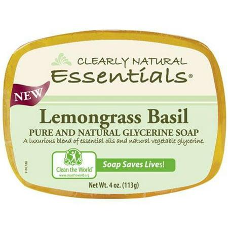 Clearly Natural Glycerin Bar Soap - Lemongrass Basil - 4 oz - 1279603