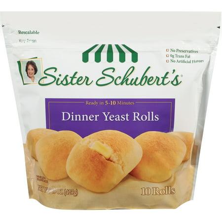 Sister Schubert S 174 Dinner Yeast Rolls 10 Ct Bag Walmart Com