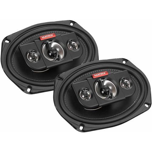 "Matrix Mobilesound 6"" x 9"" 4-Way Speakers, 500W"