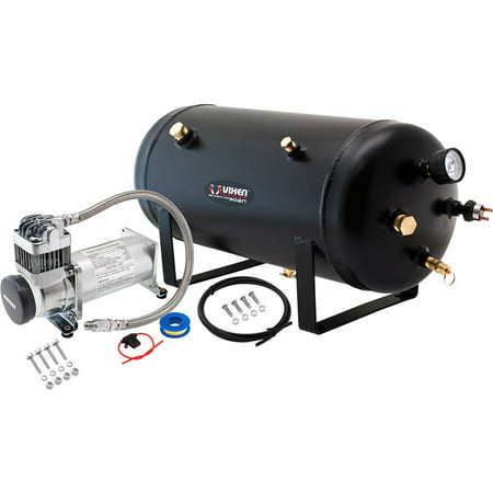 Vixen Horns 5 Gallon (18 Liter) Train/Air Horn Tank with 200 PSI Compressor Onboard System/Kit 12V (Air Compressor 200 Litre Tank 3hp 240v)