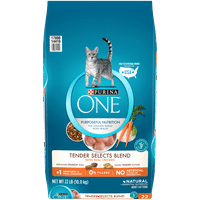 Purina One Tender Selects Blend with Real Chicken Natural Dry Cat Food, 22 lb