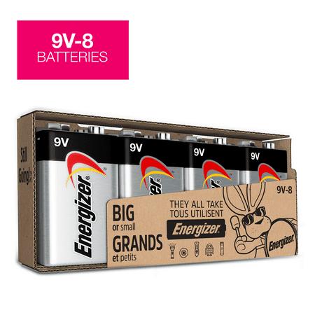 Volt Alkaline Battery (Energizer MAX Alkaline 9 Volt Batteries, 8 Pack )