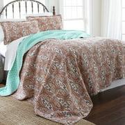 100% Cotton 3 Piece Printed Reversible Quilt Set - Arsenia Full/Queen