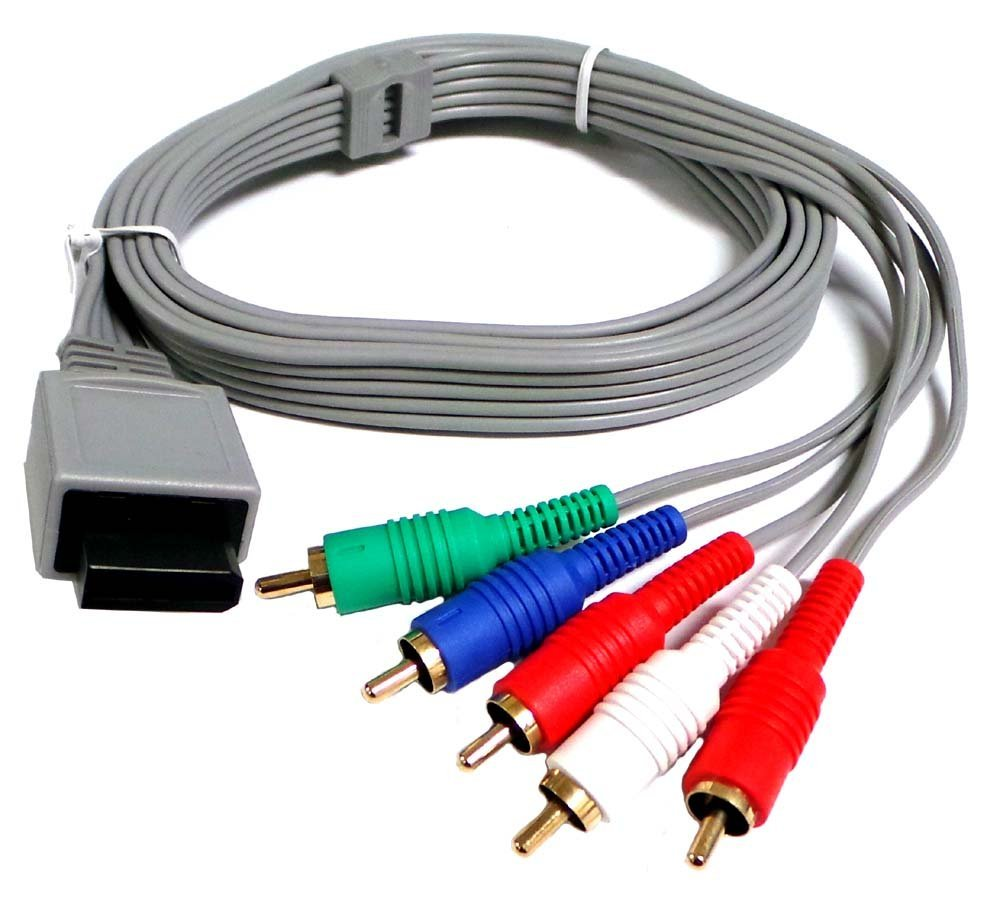 Importer520 Nintendo Wii / Nintendo Wii U Component HDTV AV High Definition AV Cable (Bulk Packaging)