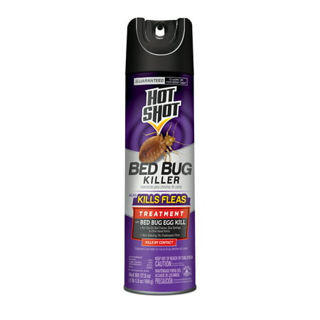 Hot Shot Bed Bug Killer, Also Kills Fleas, Aerosol Spray, (Products To Kill Fleas In The Home)