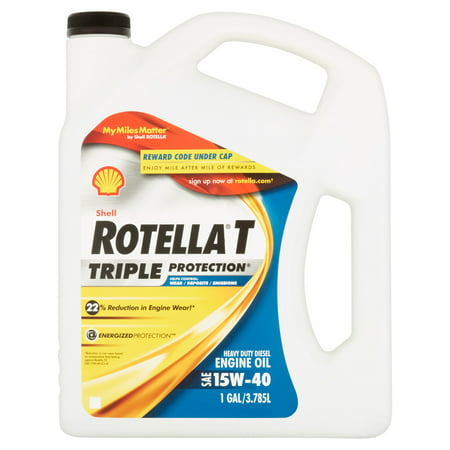 shell rotella t 15w 40 heavy duty diesel oil 1 gal. Black Bedroom Furniture Sets. Home Design Ideas