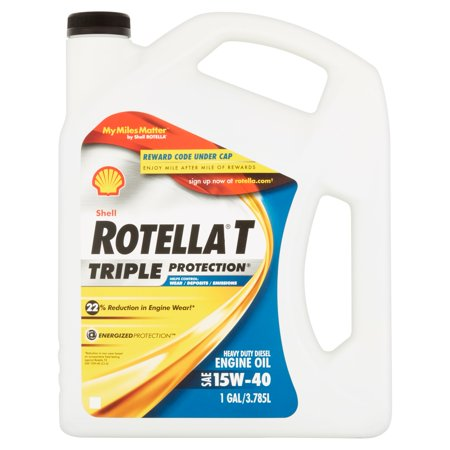Shell Rotella T 15W-40 Heavy Duty Diesel Oil, 1 gal.