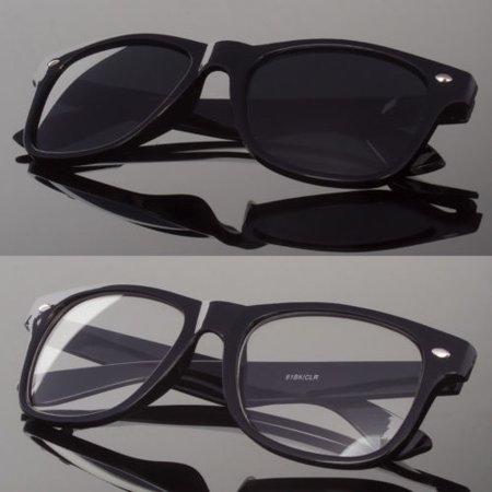 Frame Clear Xtr Lens - New Black or Clear Lens Sunglasses Vintage Retro Men Women Classic Frame Glasses