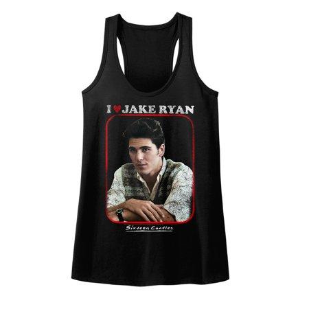 Sixteen Candles Movies Jake Heart Ladies Short Sleeve Shirt