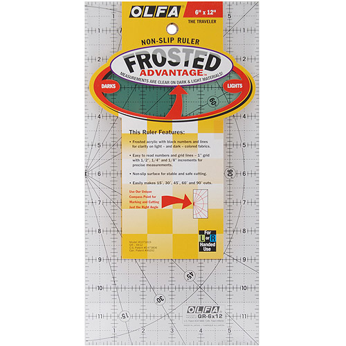 "Olfa Frosted Advantage Non-Slip Ruler, ""The Traveler"""