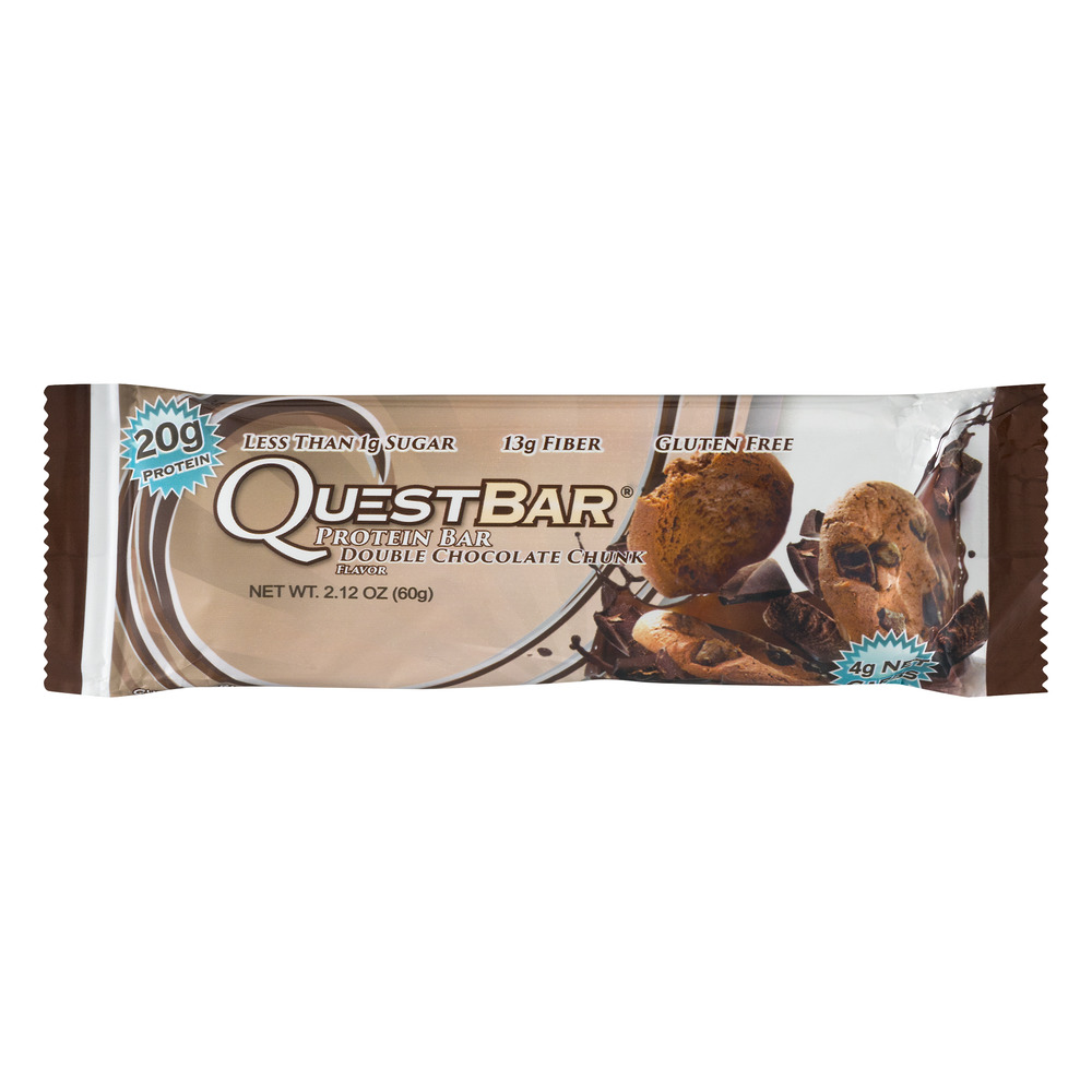 Quest Protein Bar, Double Chocolate Chunk, 20g Protein, 1 Ct