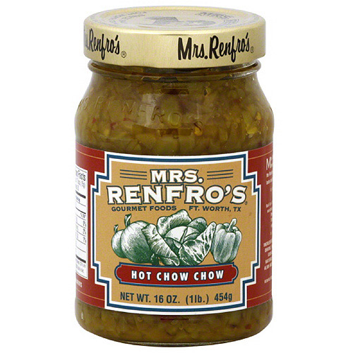 Mrs. Renfro's Hot Chow Chow, 16 oz (Pack of 6)