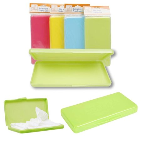 2 X Baby Wipe Case Diaper Wet Wipes Container Set Travel Compact Holder BPA (Pink Wipes Case)