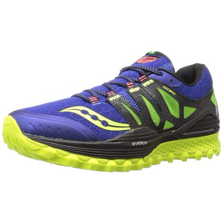 f4d8aada Saucony Men's Xodus Iso Trail Running Shoe, Blue/Black/Citron, 11 M US