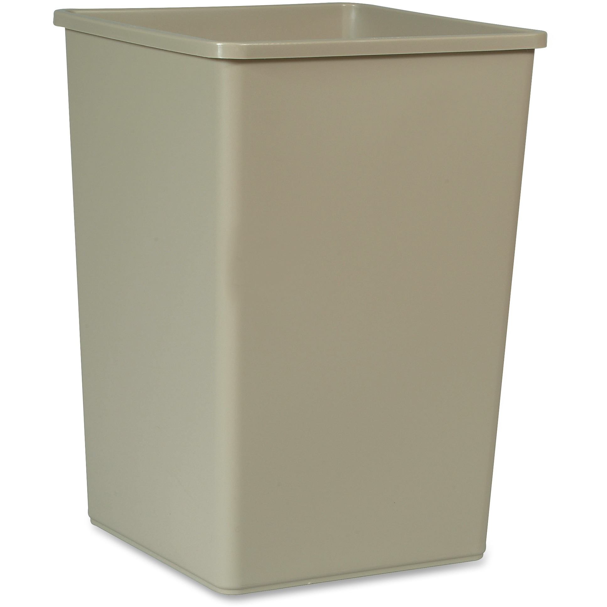 Rubbermaid Commercial, RCP395800BG, 35-gal Untouchable Sqre Container, 1, Beige