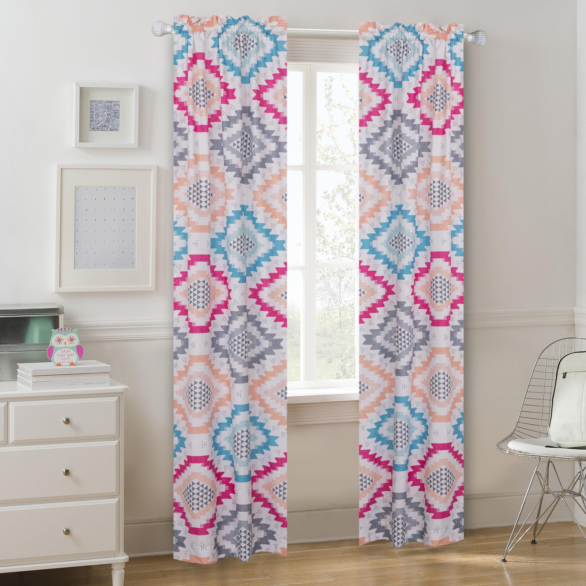 Mainstays Aztec Prism Window Curtain Panel Pair