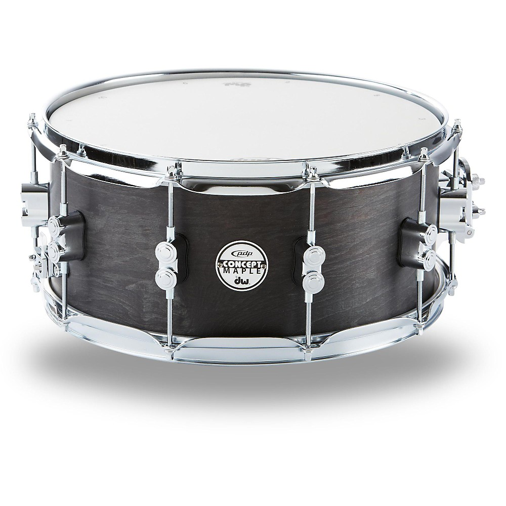 PDP Black Wax Maple Snare Drum 14x6.5 Inch
