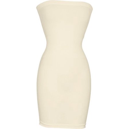 Seamless Smoother Tube Slip - The Purge White Dress