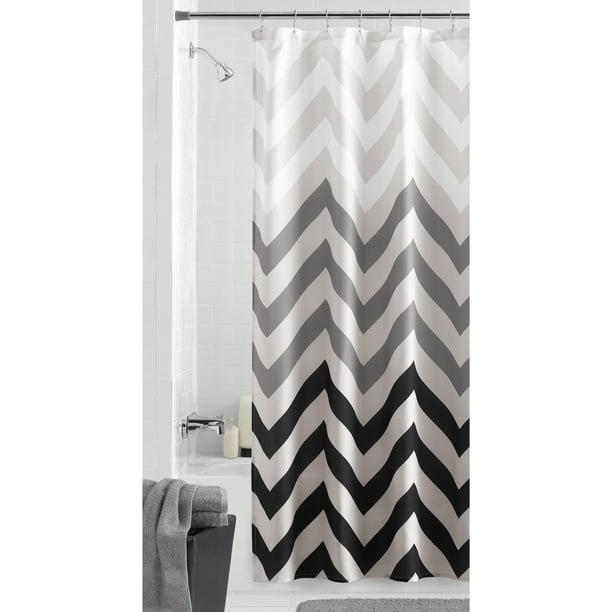 Mainstays Flux Chevron Fabric Shower Curtain Walmart Com