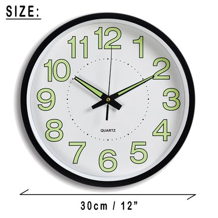 Mrosaa 12 Quot Wall Clock Silent Non Ticking Quartz Wall