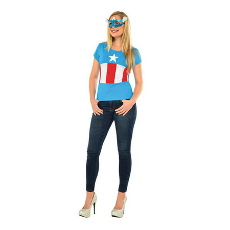 Halloween Avengers American Dream Adult Costume Top and Mask