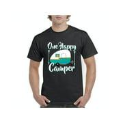 Camping One Happy Camper Men Shirts T-Shirt Tee