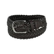 Boy's Leather Braided Uniform Dress Belt