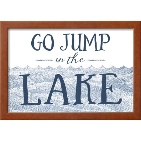 Go Jump In The Lake Wave Framed Print Wall Art By Lantern Press
