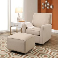 Abbyson Living Leyla Gliding Chair with Ottoman