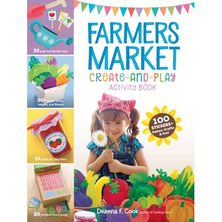 Farmers Market Create-and-Play Activity Book -