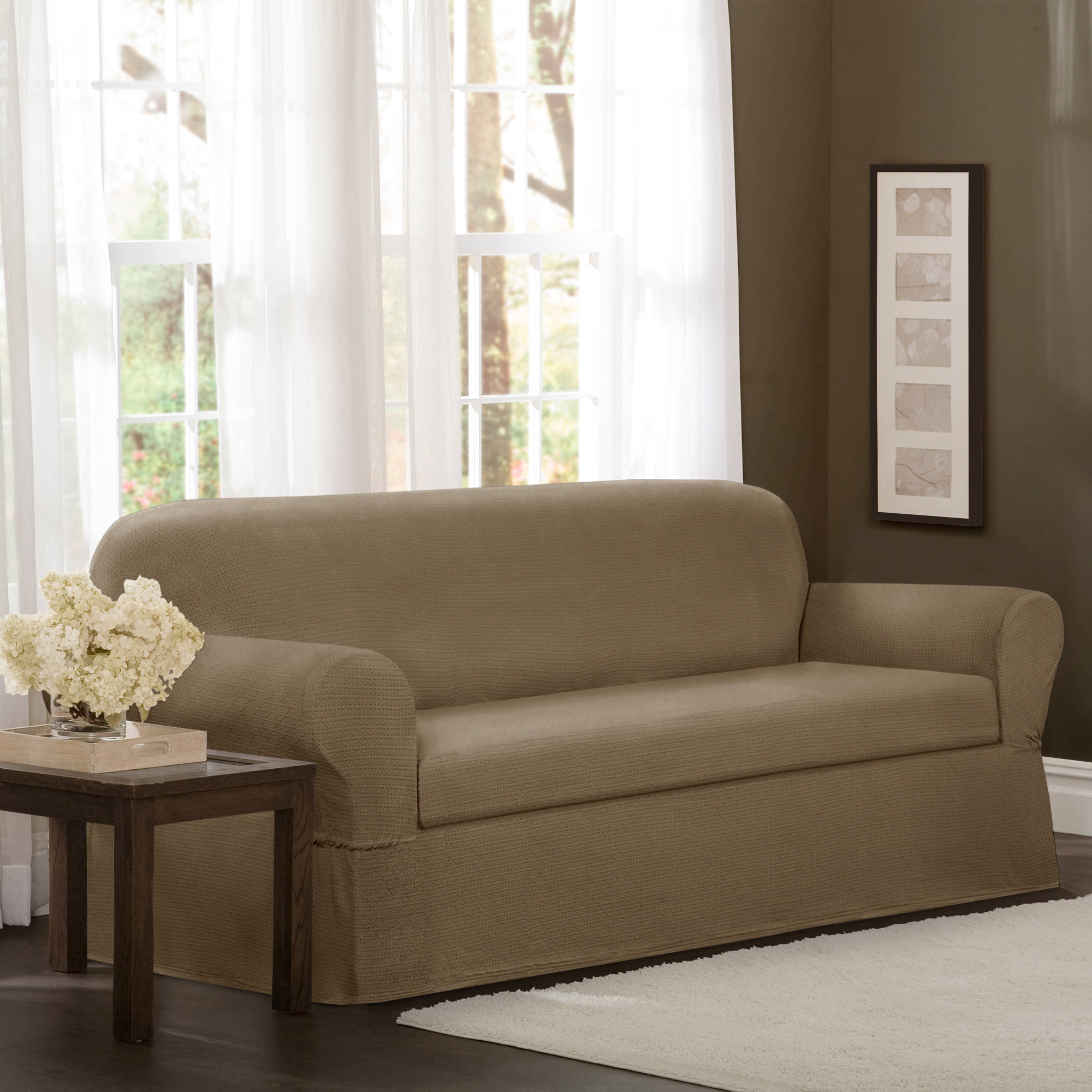 Maytex Torie Stretch Fabric 2-Piece Furniture Slipcover