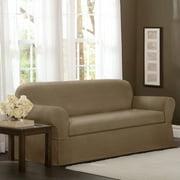 Maytex 4100131 2 Piece Torie Stretch Fabric Sofa Slipcover, Tan