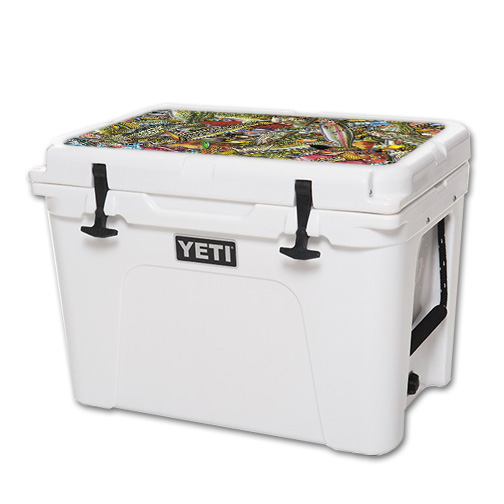 Skin For YETI 50 qt Cooler Lid – Fish Puzzle | MightySkins Protective, Durable, and Unique Vinyl Decal wrap cover | Easy To Apply, Remove, and Change Styles | Made in the USA